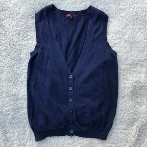 navy button up vest | forever 21